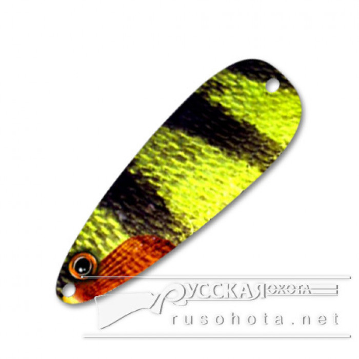 Блесна Pelikan Flutter Spoon 1/5oz 6гр. T Perch Yel